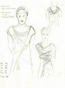 Entwurfsskizze für Erisbe